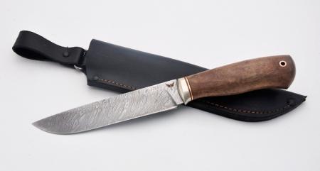 Нож Охотник (дамаск, орех), KNIFE YARD, 00162
