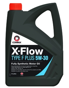 Моторное масло COMMA 5W30 X-FLOW TYPE F PLUS, 4л, XFFP4L