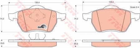 Колодки дисковые Передние, TRW, GDB1204
