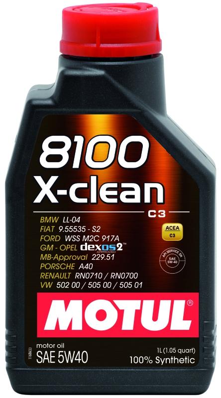 Моторное масло MOTUL 8100 X-clean, 5W-40, 1 л, 102786