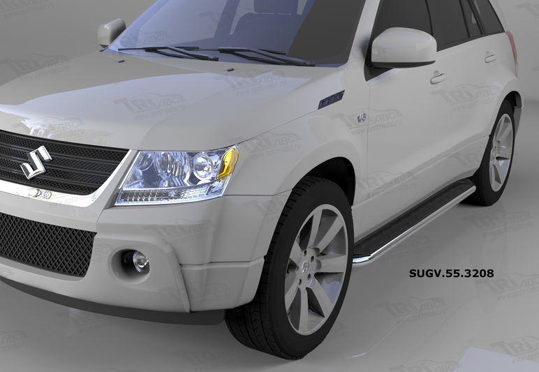 Пороги алюминиевые (Ring) Suzuki Grand Vitara (2006-2010-), SUGV553208