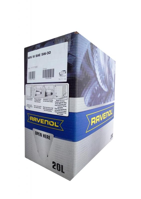 Моторное масло RAVENOL WIV III, 5W-30, 20л, 4014835773424
