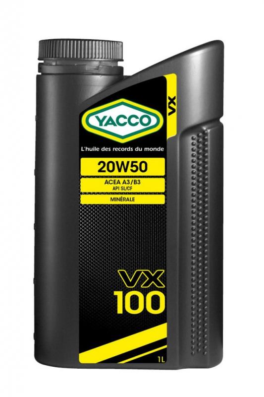 Масло моторное YACCO VX 100 минер. 20W50,SL/CF (1 л)