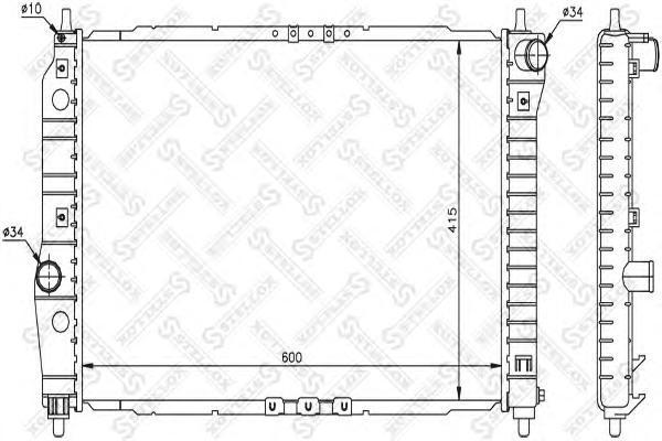 Радиатор системы охлаждения, STELLOX, 1025341SX