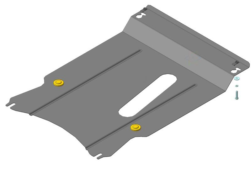 Защита картера двигателя, КПП Geely MK 2008- V=1,5i (сталь 2 мм), MOTODOR64201
