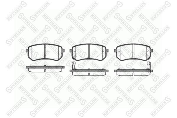 Колодки дисковые, STELLOX, 1146002SX