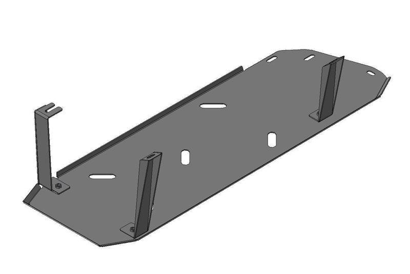 Защита бензобака Chevrolet TrailBlazer 2013- V=2.8 TD (сталь 3 мм), MOTODOR13012