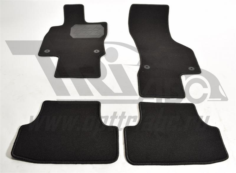 Коврики салона текстильный Volkswagen Golf VII (2013-) (Велюр, полиамид)(подпятник п/у)(черные), NPA