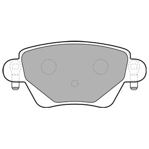 Колодки дисковые, DELPHI, LP1682