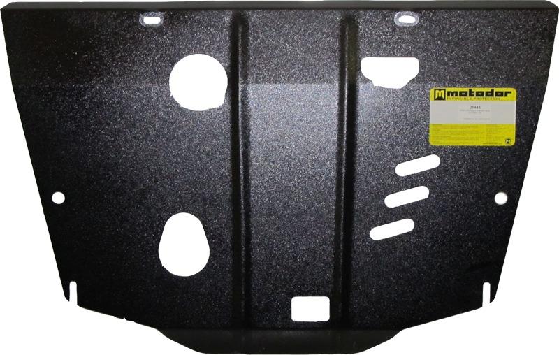 Защита картера двигателя, КПП Nissan Juke 2010- V=1,6, 1,6T (сталь 2 мм), MOTODOR01445