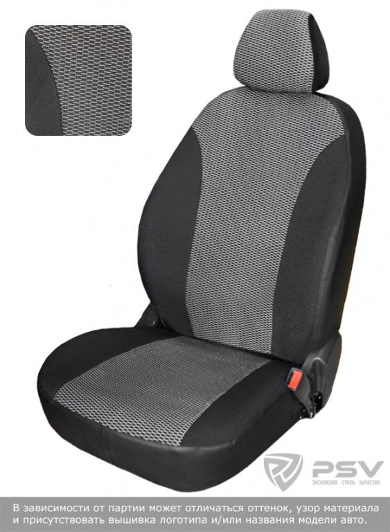 "Чехлы Chevrolet Lanos диван спл., спинка 1/3, горб, серый жаккард, ""БРК"", 120395"