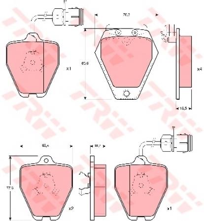 Колодки дисковые Передние, TRW, GDB1162
