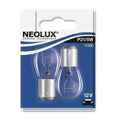 Лампа, 12 В, 21/4 Вт, P21/5W, BAY15d, NEOLUX, N380-02B