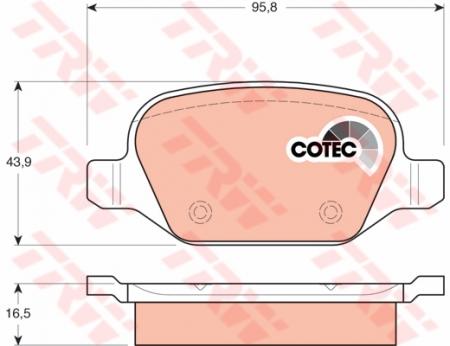 Колодки дисковые Задние, TRW, GDB1396