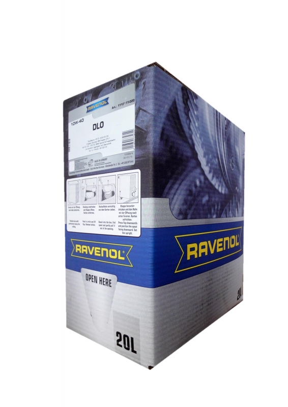Моторное масло RAVENOL Teilsynthetic Dieseloel DLO, 10W-40, 20л, 4014835774629