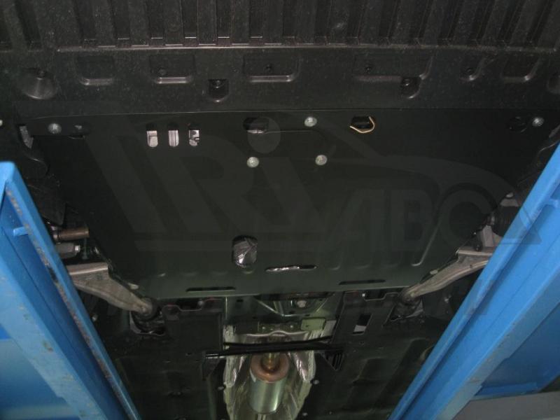 Защита картера двигателя и кпп Ford Mondeo(V-2.5, 2014-) штамп. (Сталь 1,8 мм), 03813C2