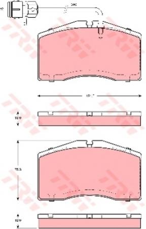 Колодки дисковые Передние, TRW, GDB1506