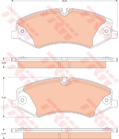 Колодки дисковые Передние, TRW, GDB1825