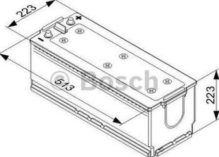 Аккумуляторная батарея Bosch T4, 12 В, 170 А/ч, 1000 А, 0092T40780