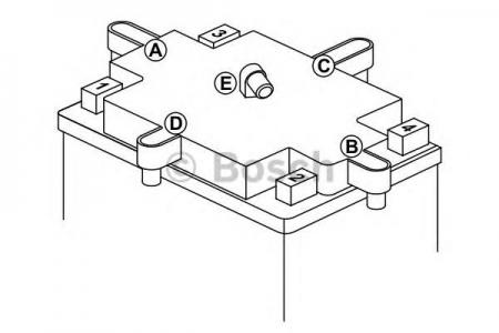 Аккумуляторная батарея Bosch Funstart AGM, 12 В, 12 А/ч, 100 А, 0092M60180