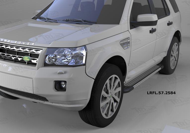 Пороги алюминиевые (Topaz) Land Rover Freelander 2 (2008-), LRFL572584