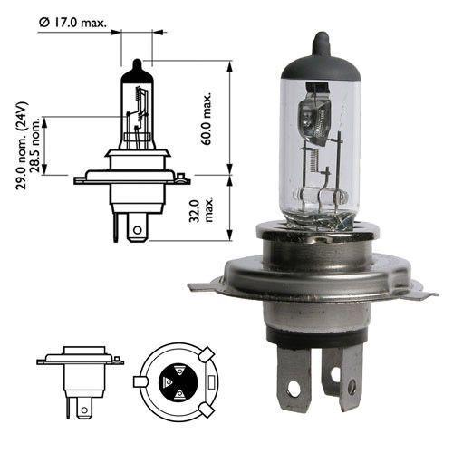 """Лампа """"Standard"""", 12 В, 67/60 Вт, HB2, P43t-38, NARVA, 48882"""