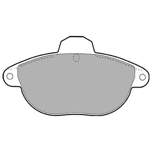 Колодки дисковые, DELPHI, LP1611