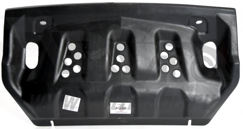 Защита радиатора Mitsubishi Pajero (Митсубиши Паджеро) IV,V-3,0;3,2TD (06-) (Композит 10 мм), 1409K