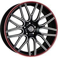 Колесный диск X-Race AF-01 6.5x16/5x105 D66.6 ET39 черный матовый полированный с красной полосой по