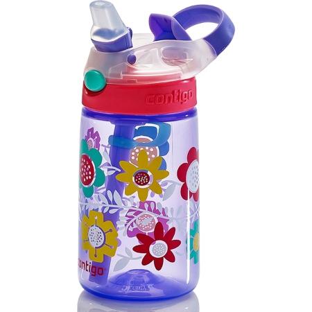 Детская бутылка для воды Contigo Gizmo Flip, синия с цветами, 420 мл, 10000467