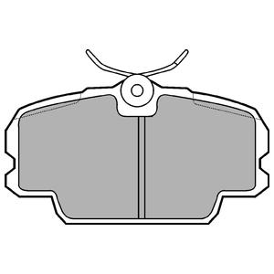Колодки дисковые, DELPHI, LP455