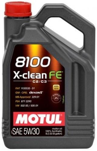Моторное масло MOTUL 8100 X-Clean FE, 5W-30, 5 л, 104777