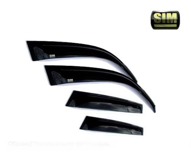 Дефлекторы боковых окон Citroen (Ситроен) C5 (2008-) (4ч) (темный), SCIC51032