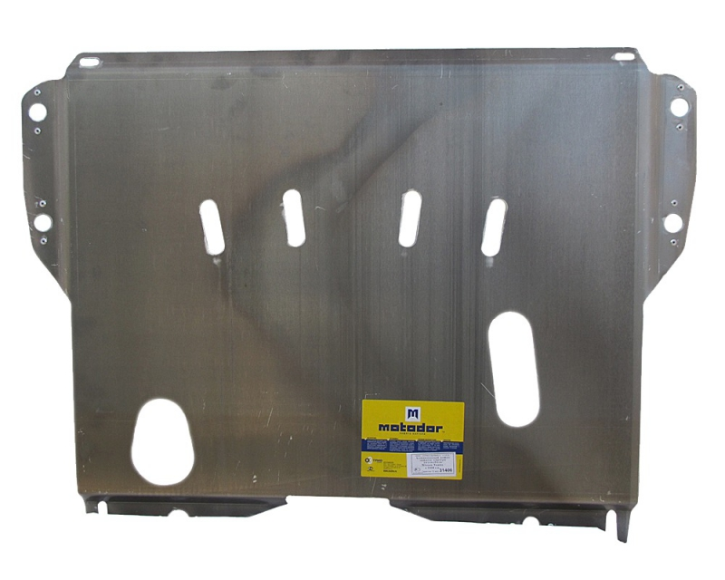 Защита картера двигателя, КПП Nissan Teana II 2008-2013 V=2,5, 3,5 (алюминий 5 мм), MOTODOR31406