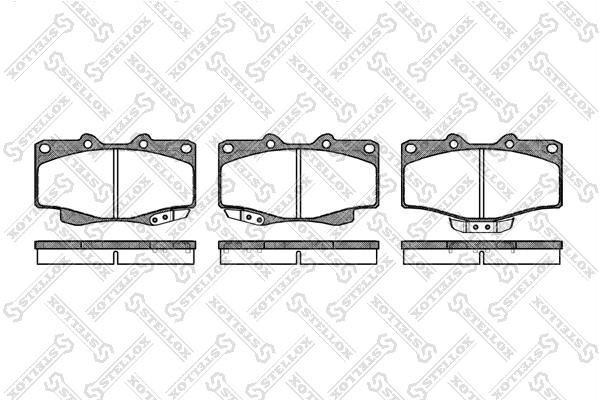 Колодки дисковые, STELLOX, 326014SX