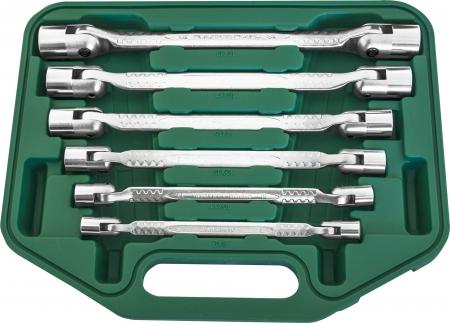 W43A106S Набор ключей торцевых карданых 8-19 мм, 6 предметов