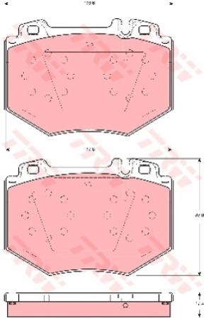 Колодки дисковые Передние, TRW, GDB1575