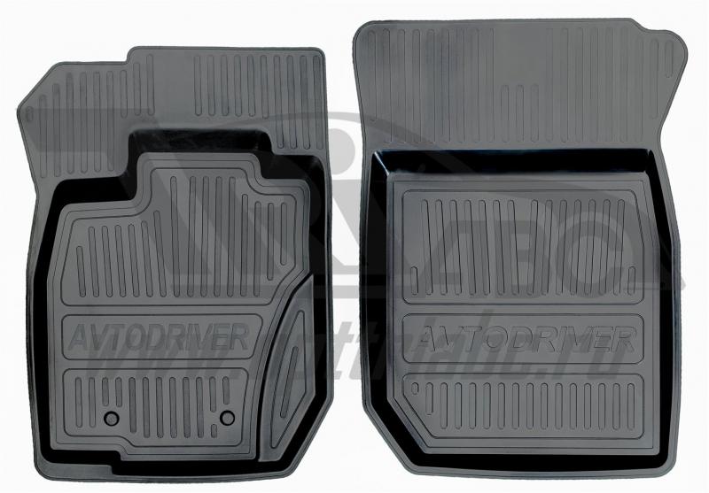 Коврики салона резиновые с бортиком для Renault Duster полный привод (2011-2015) (2 передних), ADRJE