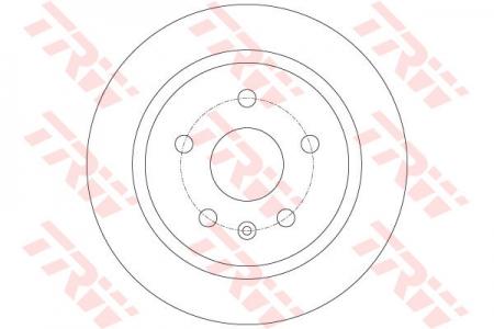 Диск тормозной задний, TRW, DF6312