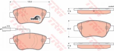 Колодки дисковые Передние, TRW, GDB1654