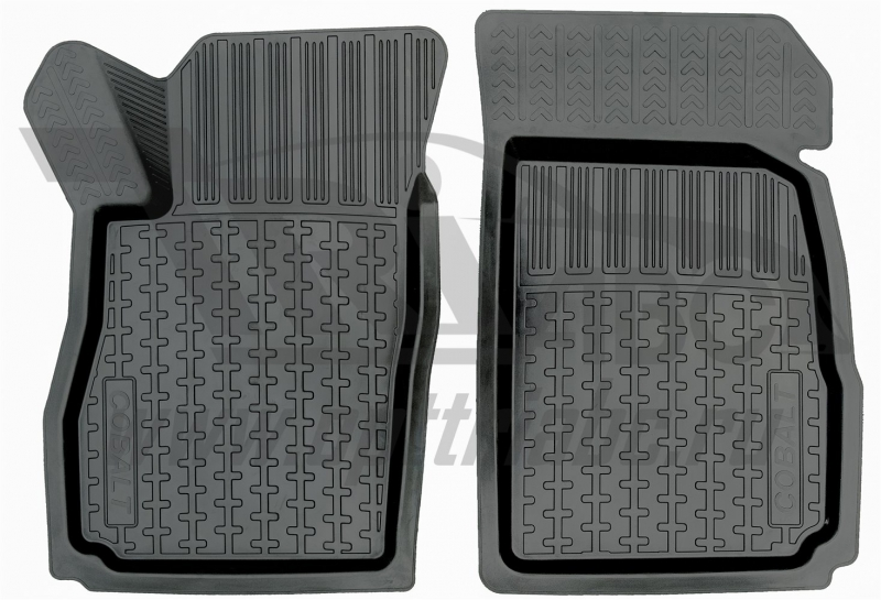 Коврики салона резиновые с бортиком для Chevrolet Aveo (2003-2011) (2 передних), ADRPRO0072