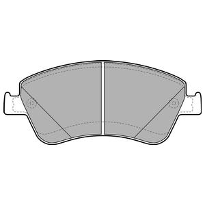 Колодки дисковые, DELPHI, LP2102