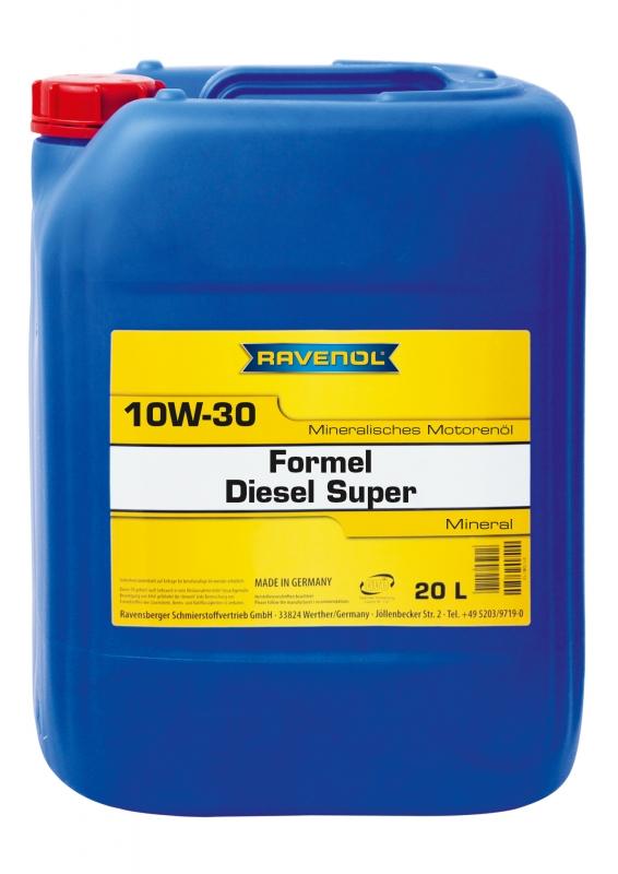Моторное масло RAVENOL Formel Diesel Super, 10W-30, 20л, 4014835726222