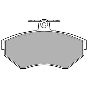 Колодки дисковые, DELPHI, LP1410