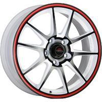 Колесный диск Yokatta MODEL-15 6.5x15/4x98 D57.1 ET35 белый +черный+красная полоса по ободу (W+B+RS)