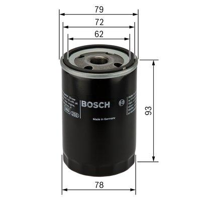 Фильтр масляный, BOSCH, 0451103363