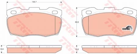 Колодки дисковые Передние, TRW, GDB1452