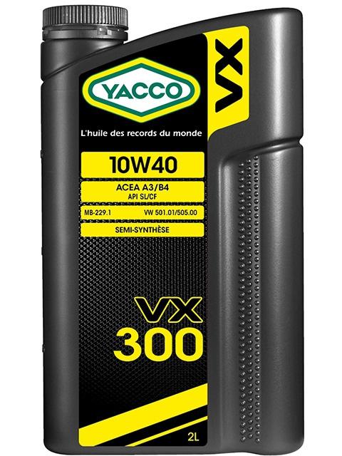 Масло моторное YACCO VX 300 п/синт. 10W40,SL/CF (2 л)