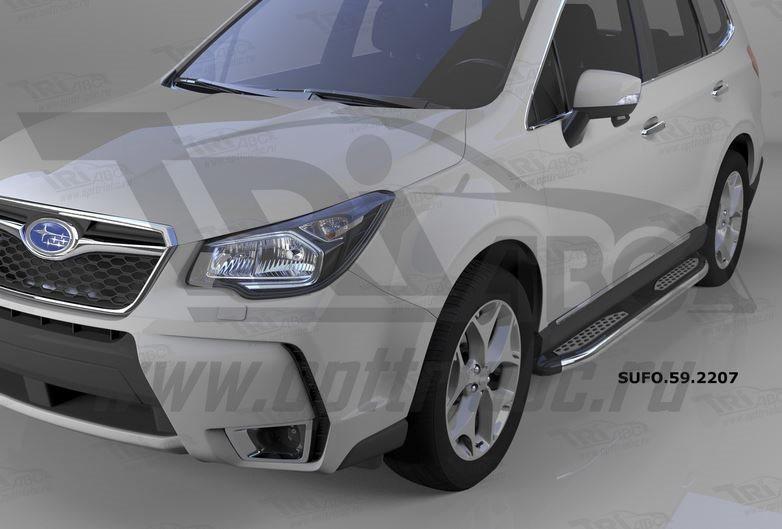 Пороги алюминиевые (Zirkon) Subaru Forester (2013-), SUFO592207