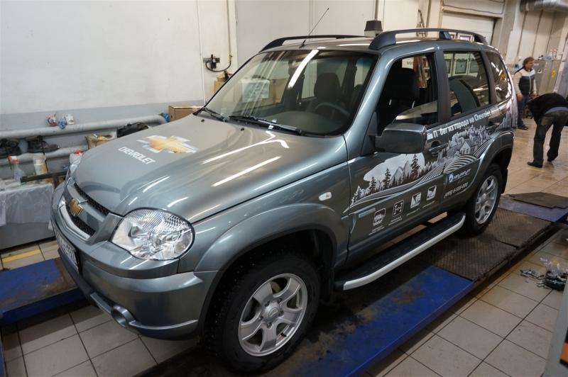Пороги алюминиевые (Alyans) Chevrolet Niva (2008-), CENI472121